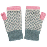Women's Sage & Pink Cross Wrist Warmers