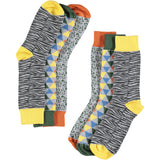 Wild Pattern Bundle - Men's Cotton Ankle Sock 3 Pack - SAVE 20%