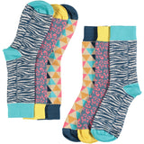 Wild Pattern Collection - Women's Cotton Ankle Sock 3 Pack - SAVE 20%
