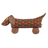 afro doorstop dog orange