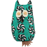 afro owl door stop green