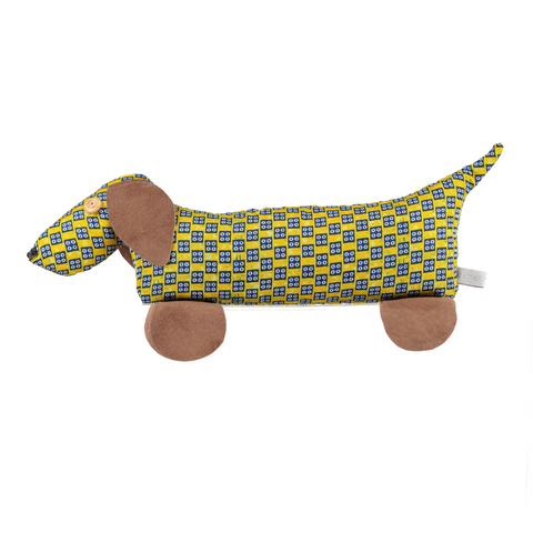 afro door stop dog yellow