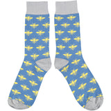 Men's Denim Bee Cotton Ankle Socks