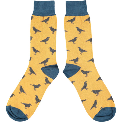 Men's Gold Crow Cotton Ankle Socks