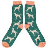 ankle socks lambswool men's hound green