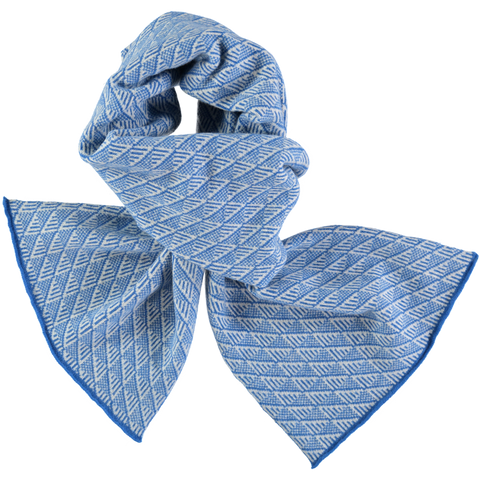 blue lambswool scarf