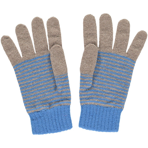 catherine tough blue stripe lambswool gloves