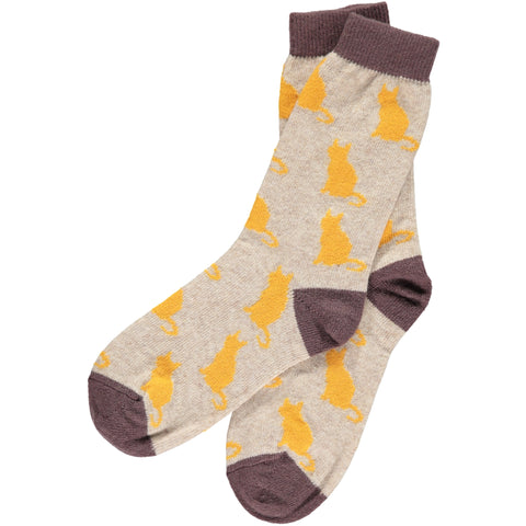 catherine tough cat ankle socks