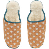 catherine tough gold dot lamsbwool slippers