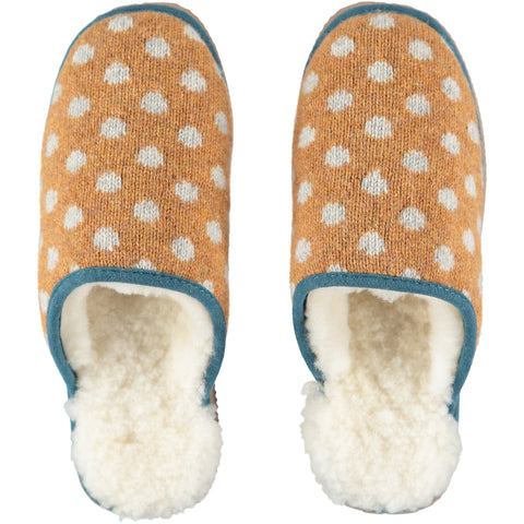 catherine tough gold dot slippers