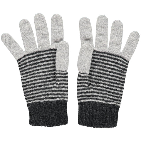 catherine tough grey stripe lamsbwool gloves