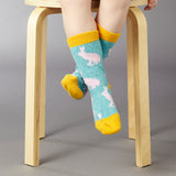 Kids' Lambswool Jade Rabbit Ankle Socks