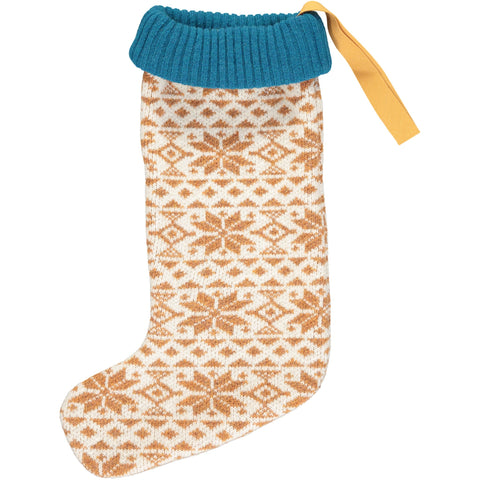 Luxury Christmas Stocking - Ginger Fair Isle