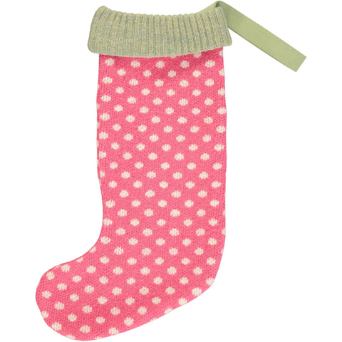 Luxury Christmas Stocking - Pink Dot