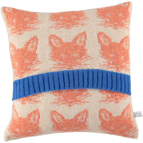 knitted fox cushion