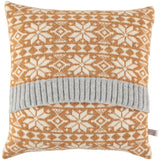 gold fair isle cushion