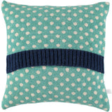 mint dot lambswool cushion