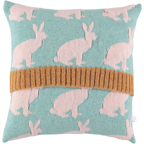 knitted rabbit cushion