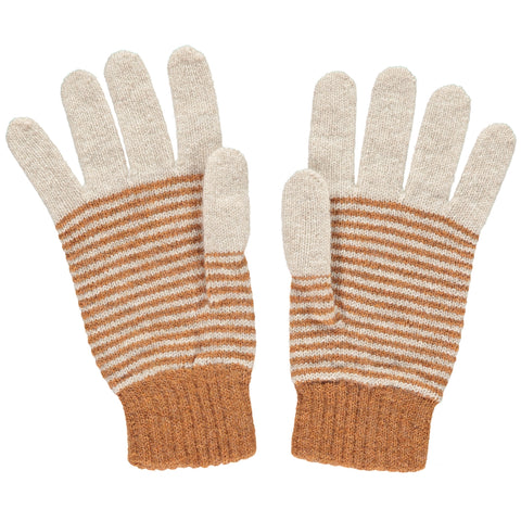 catherine tough gold stripe lambswool gloves