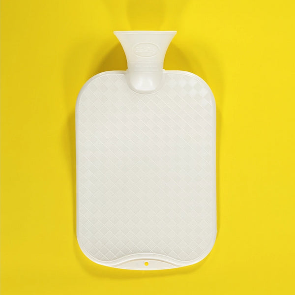 White Hot Water Bottle -  2.0 Litre thermo-plastic