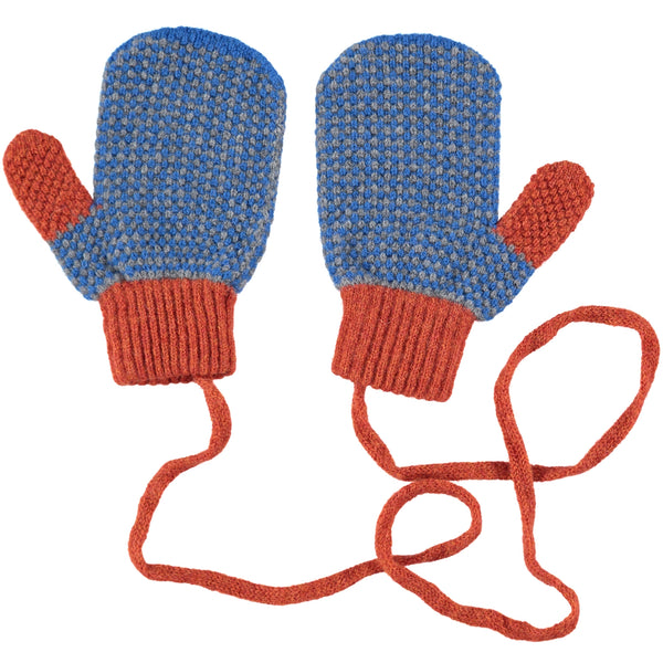 CATHERINE TOUGH BLUE CHECK MITTENS