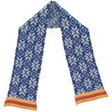 Kids' Blue Fair Isle Lambswool Scarf