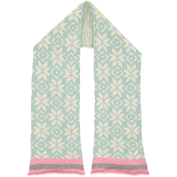 Kids' Jade Fair Isle Lambswool Scarf
