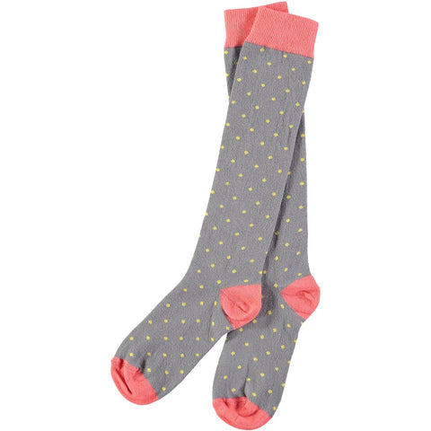 grey dotty knee socks