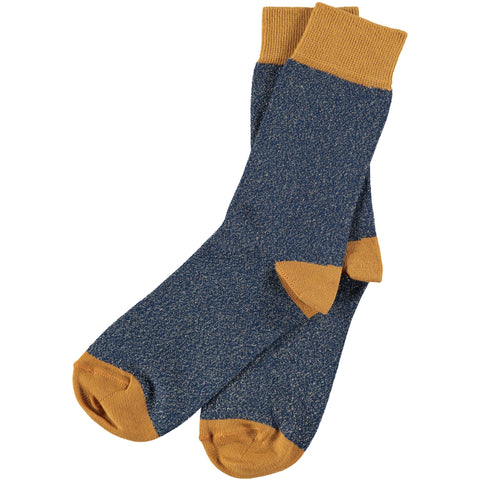 ladies navy glitter socks