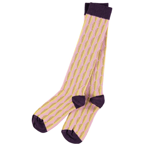 leaf pattern socks