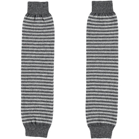 grey stripe leg warmers