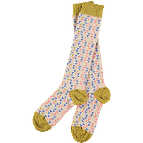 triangle pattern socks