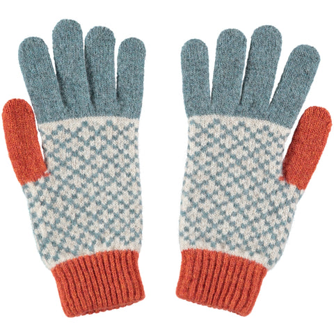 womens green lambswool gloves