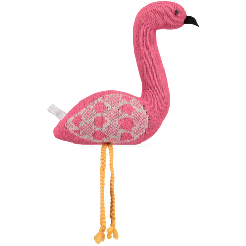 knitted pink flamingo