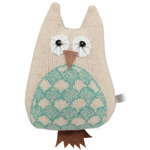 jade knitted lavender owl