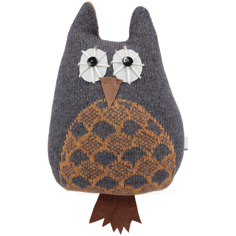 grey and gold lavender owl