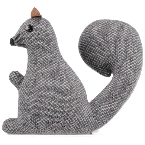 knitted grey squirrel