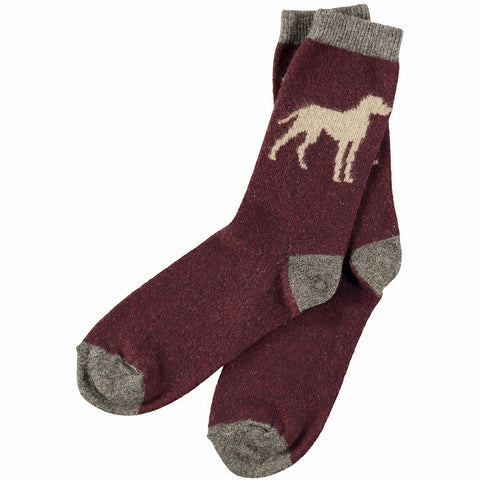 Men's Dog Lambswool Ankle Socks