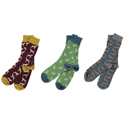 The Countryside Bundle - Men's Cotton Ankle Sock Pack - SAVE 20%