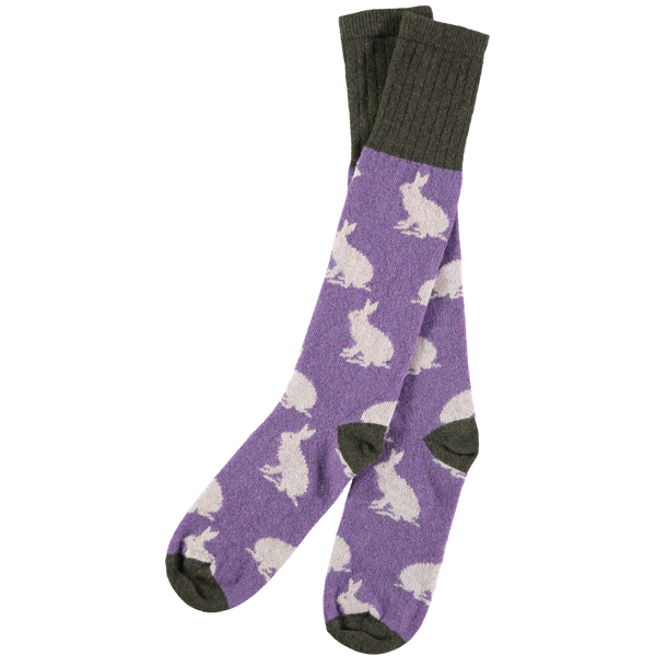 purple rabbit socks