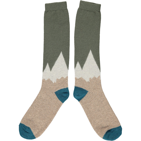Men's Green Mountain Lambswool Knee Socks