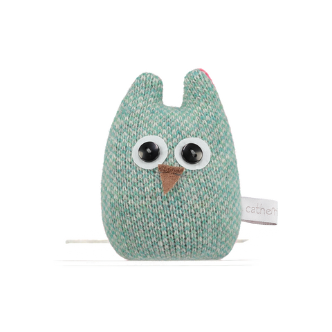 green and pink lavender mini owl