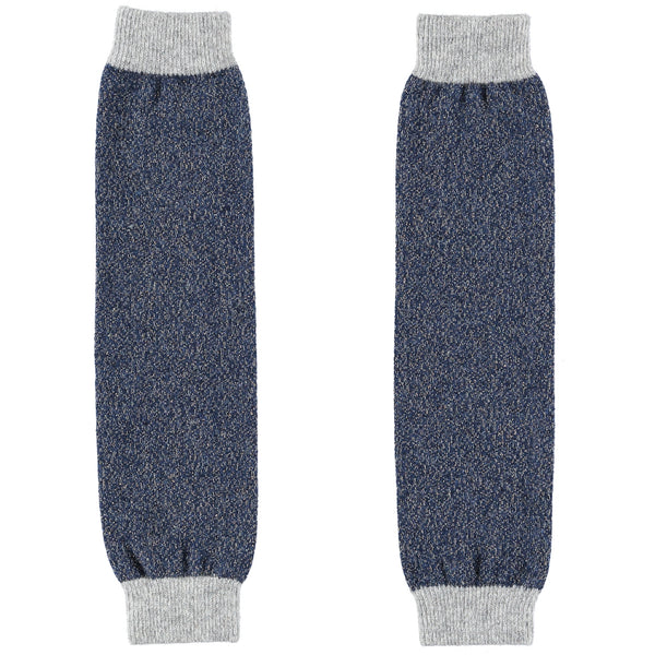 navy sparkle lambswool leg warmers