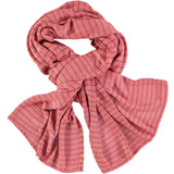 pink & red stripe bamboo scarf