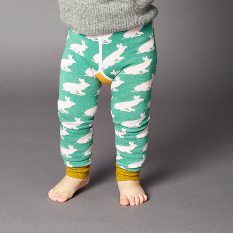 Kids' Cotton Rabbit Footless Tights
