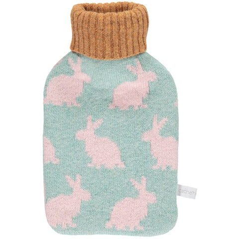 rabbit mini hot water bottle set