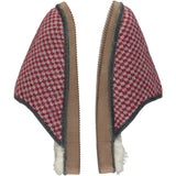 Red Squares Lambswool & Sheepskin Slippers
