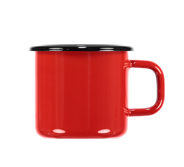 Bright Red Enamel Mug