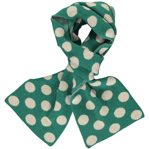 Green & Oat Spot Big Lambswool Scarf
