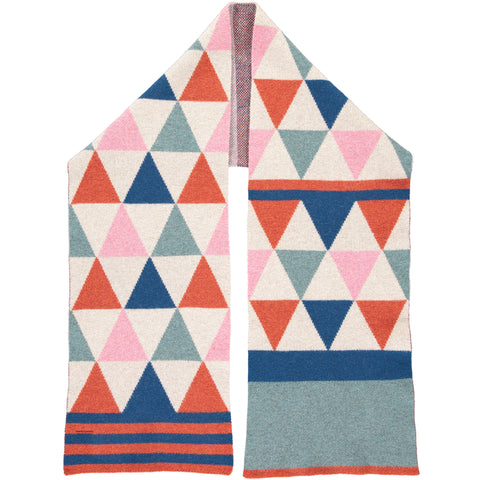SCARF - lambswool - triangle/stripe